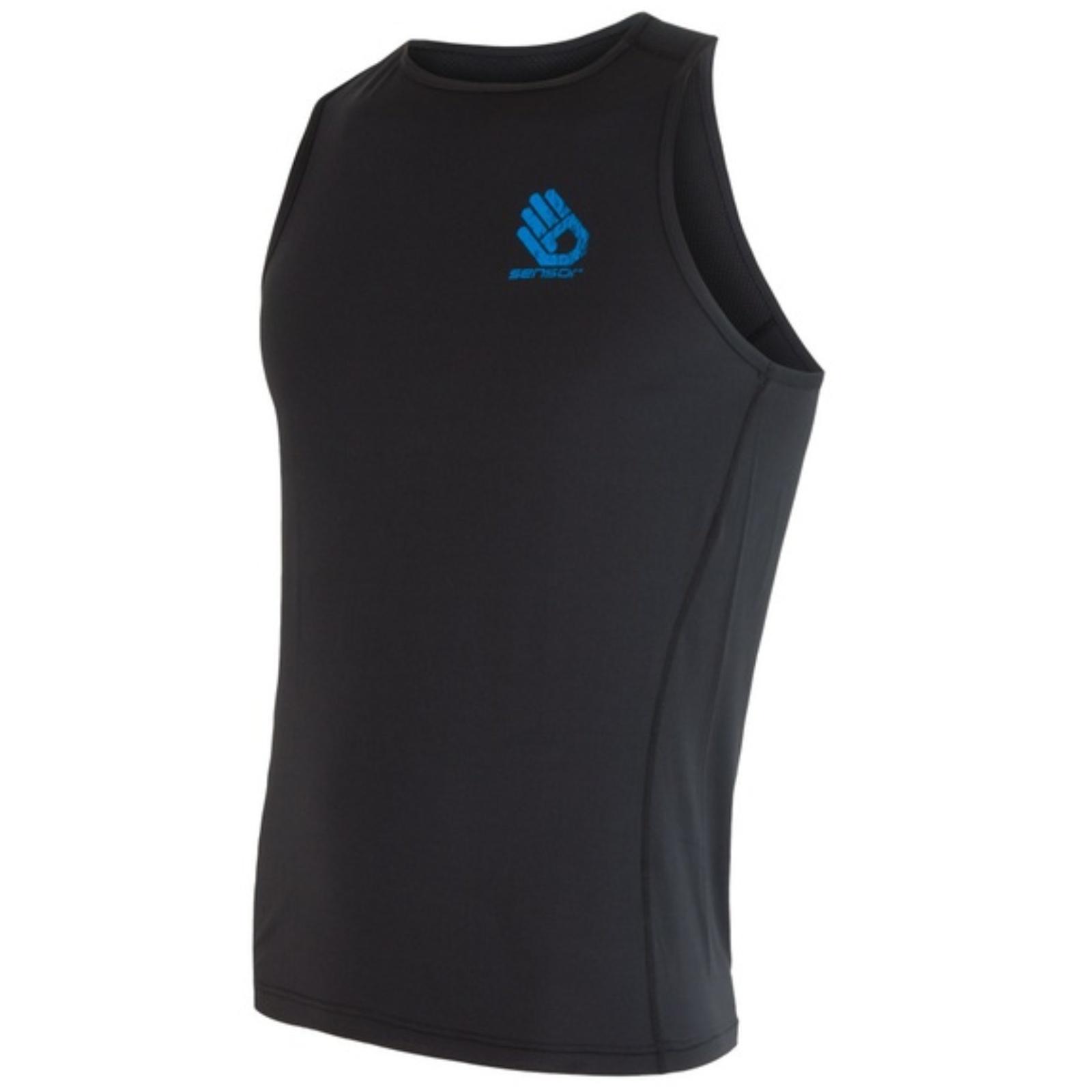 Tričko bez rukávov SENSOR Coolmax PT Ruka pánske čierne