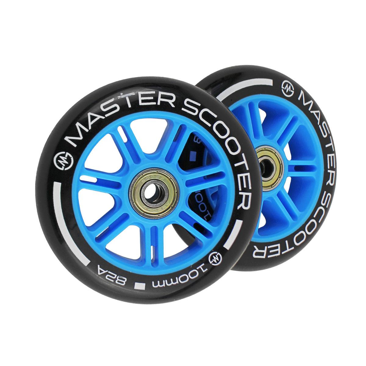Náhradné kolieska na kolobežky MASTER Stunt 100 mm - modré
