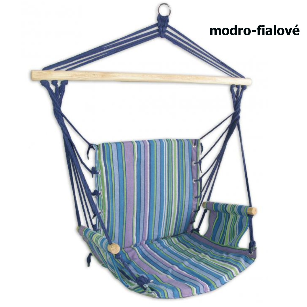 Hojdacie kreslo SEDCO Bavlna Relax 103 x 56 cm - modro-fialové