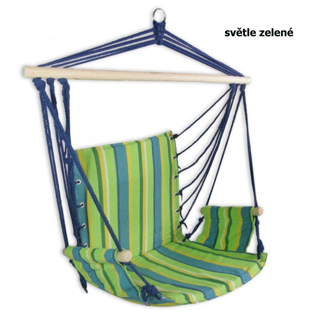 Hojdacie kreslo SEDCO Bavlna Relax 103 x 56 cm - svetlo zelené