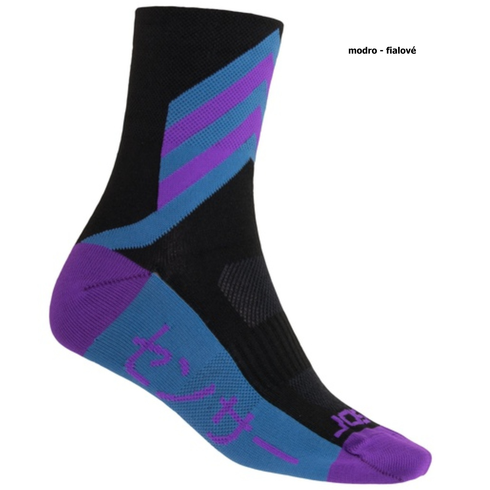 Sensor ponožky TOKYO černá-modrá-fialová