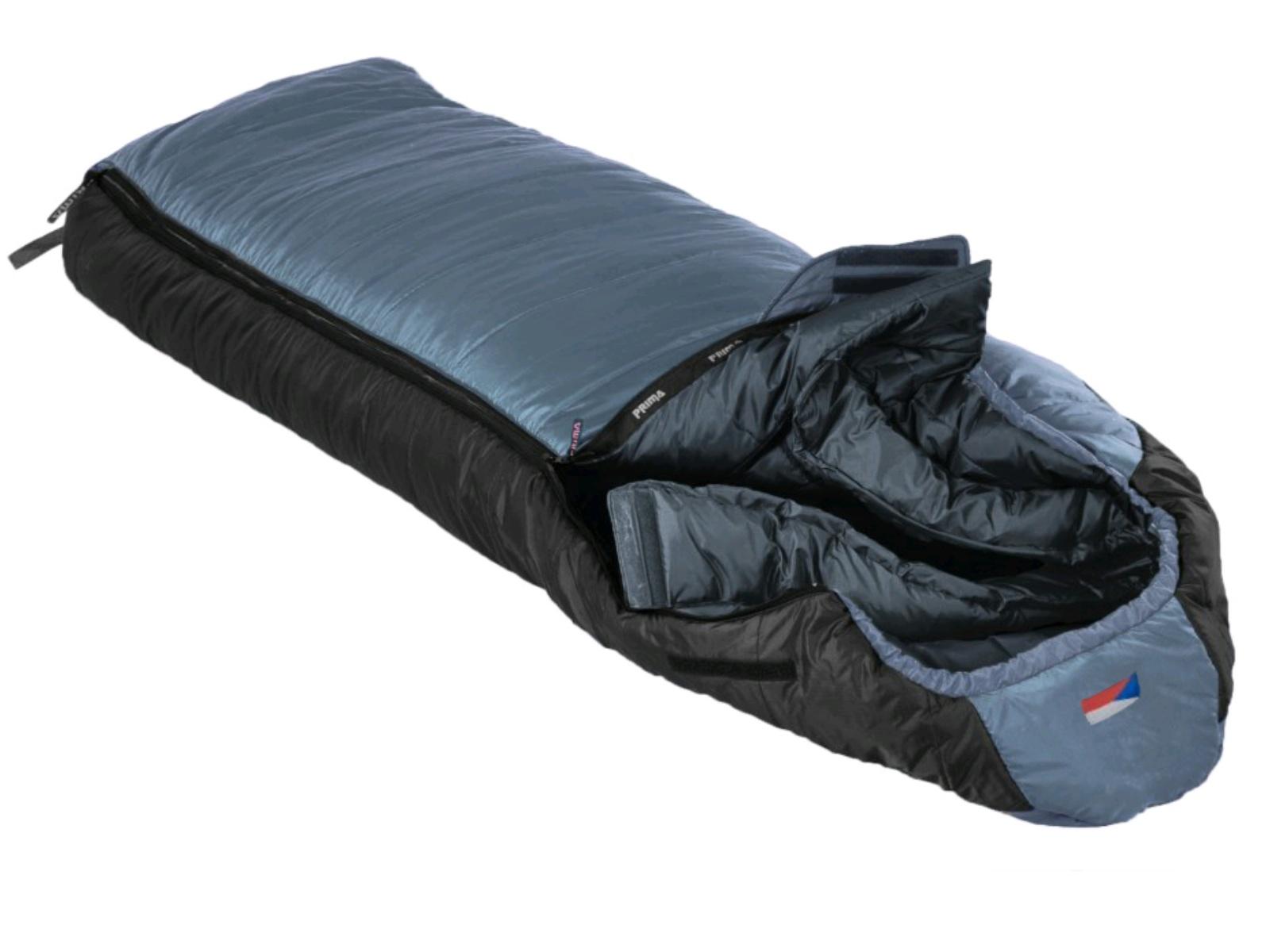 Spací vak PRIMA Manaslu 230 Comfortable šedý - ľavý zips