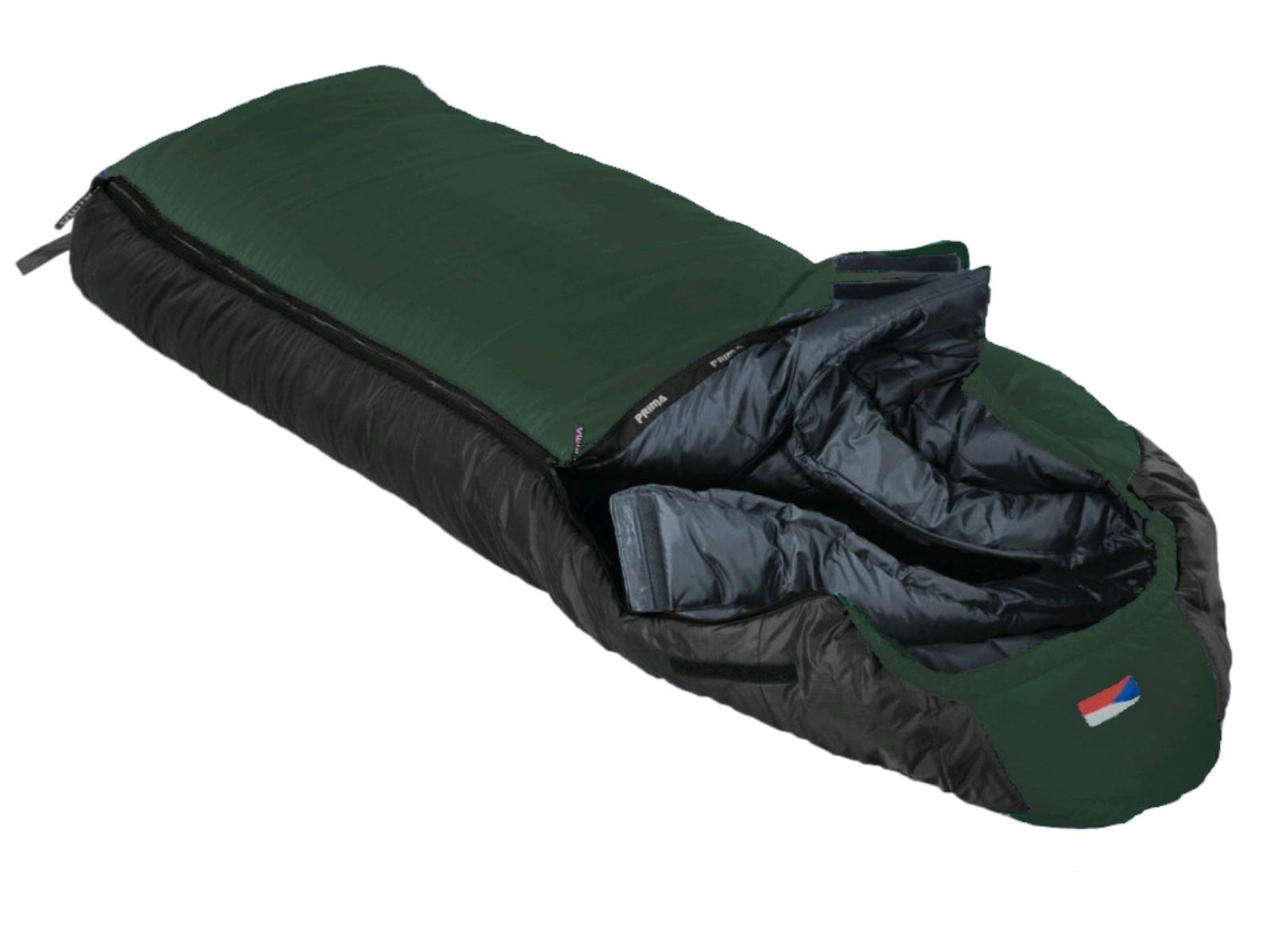 Spací vak PRIMA Manaslu 230 Comfortable zelený - ľavý zips