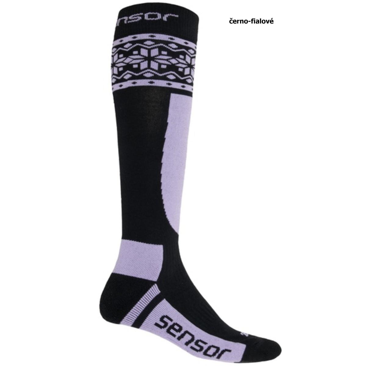 Sensor ponožky THERMOSNOW NORWAY -fialová