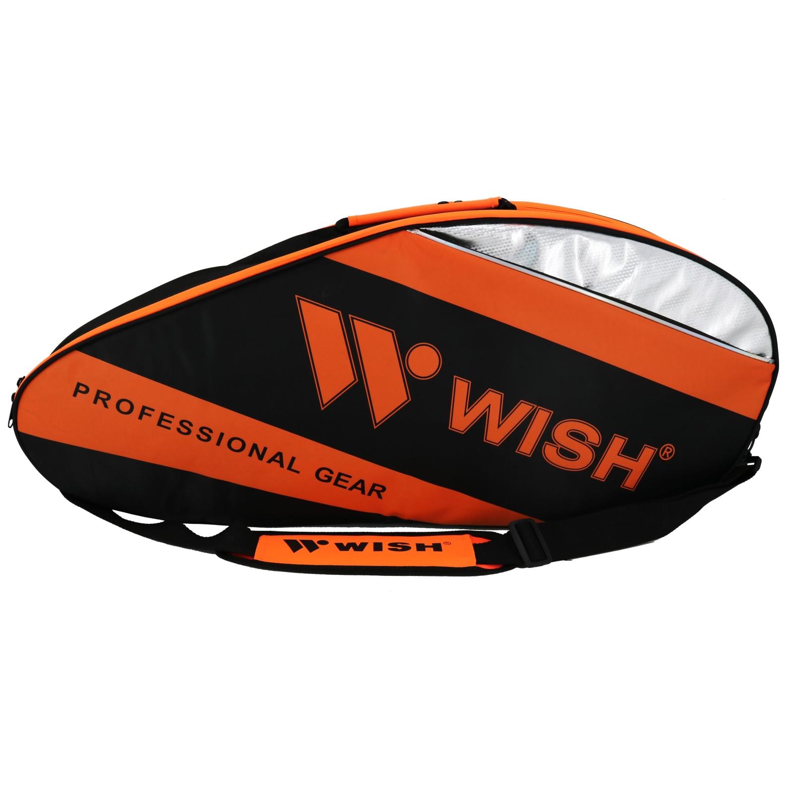 Bedmintonová taška WISH WB-3035 oranžovo-čierna
