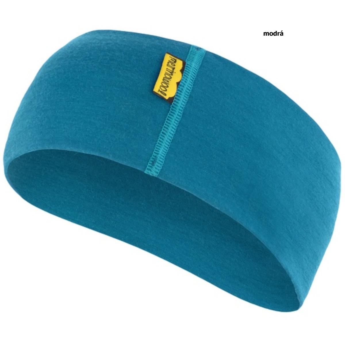 Sensor čelenka merino wool modrá