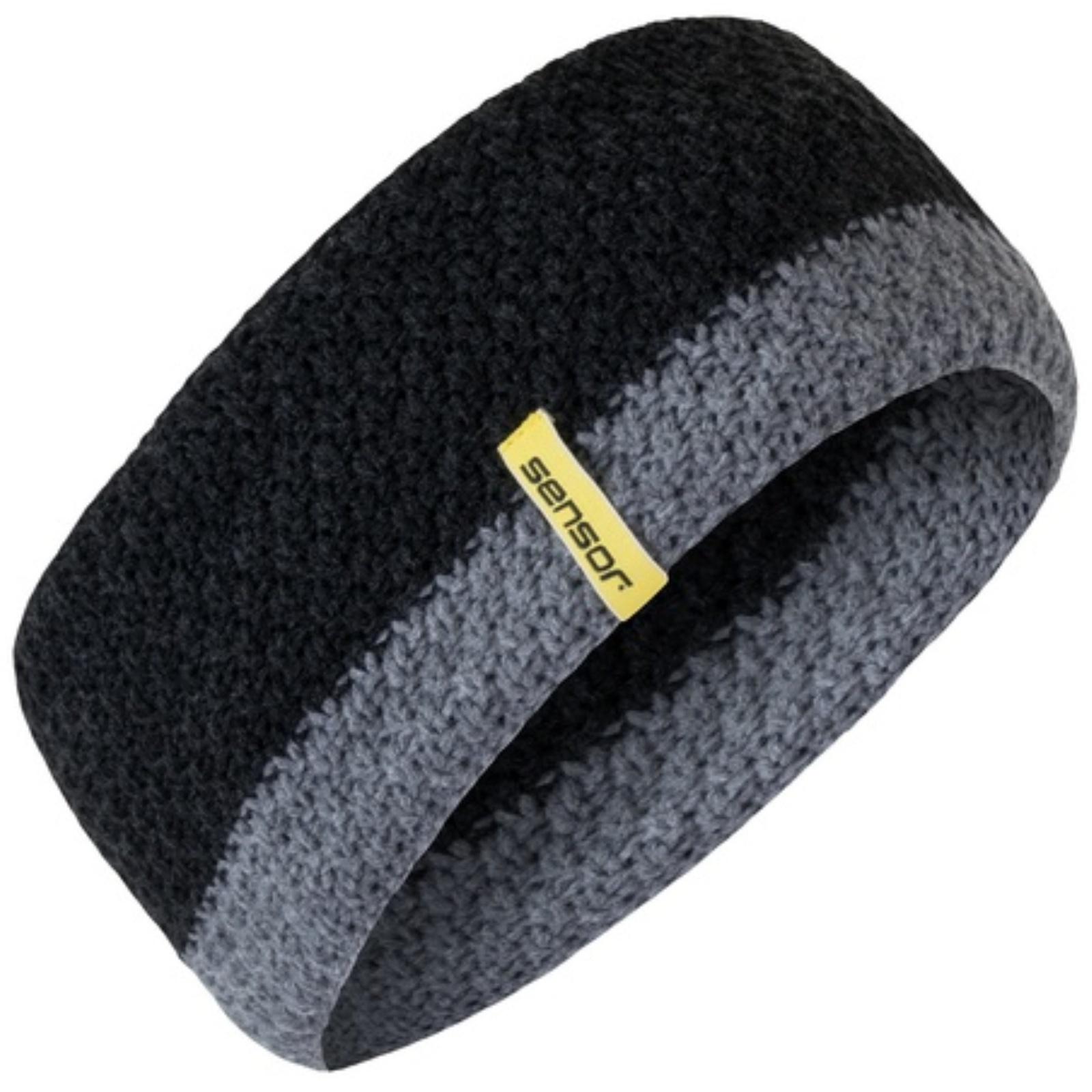 Čelenka SENSOR pletená čierna