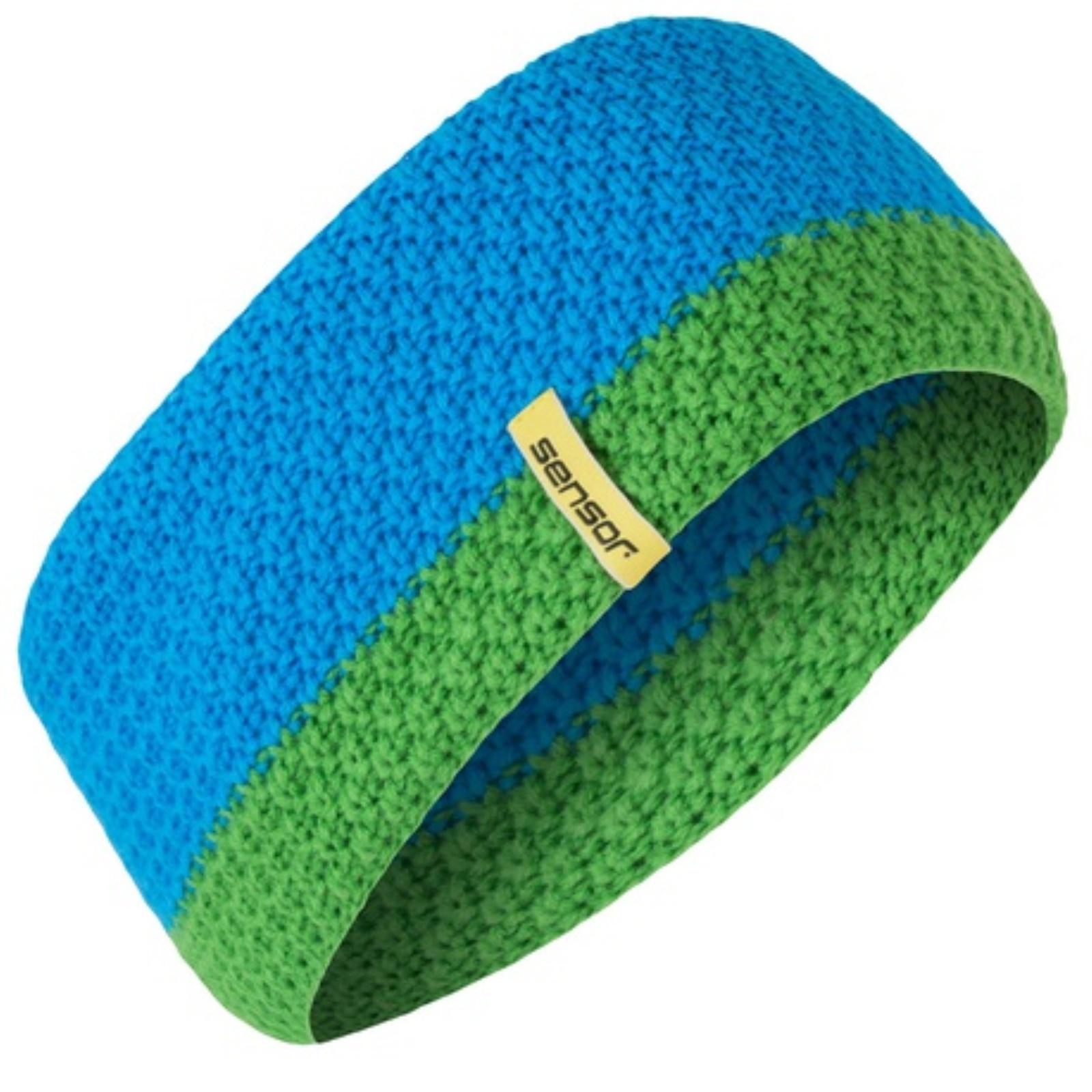 Čelenka SENSOR pletená modrá