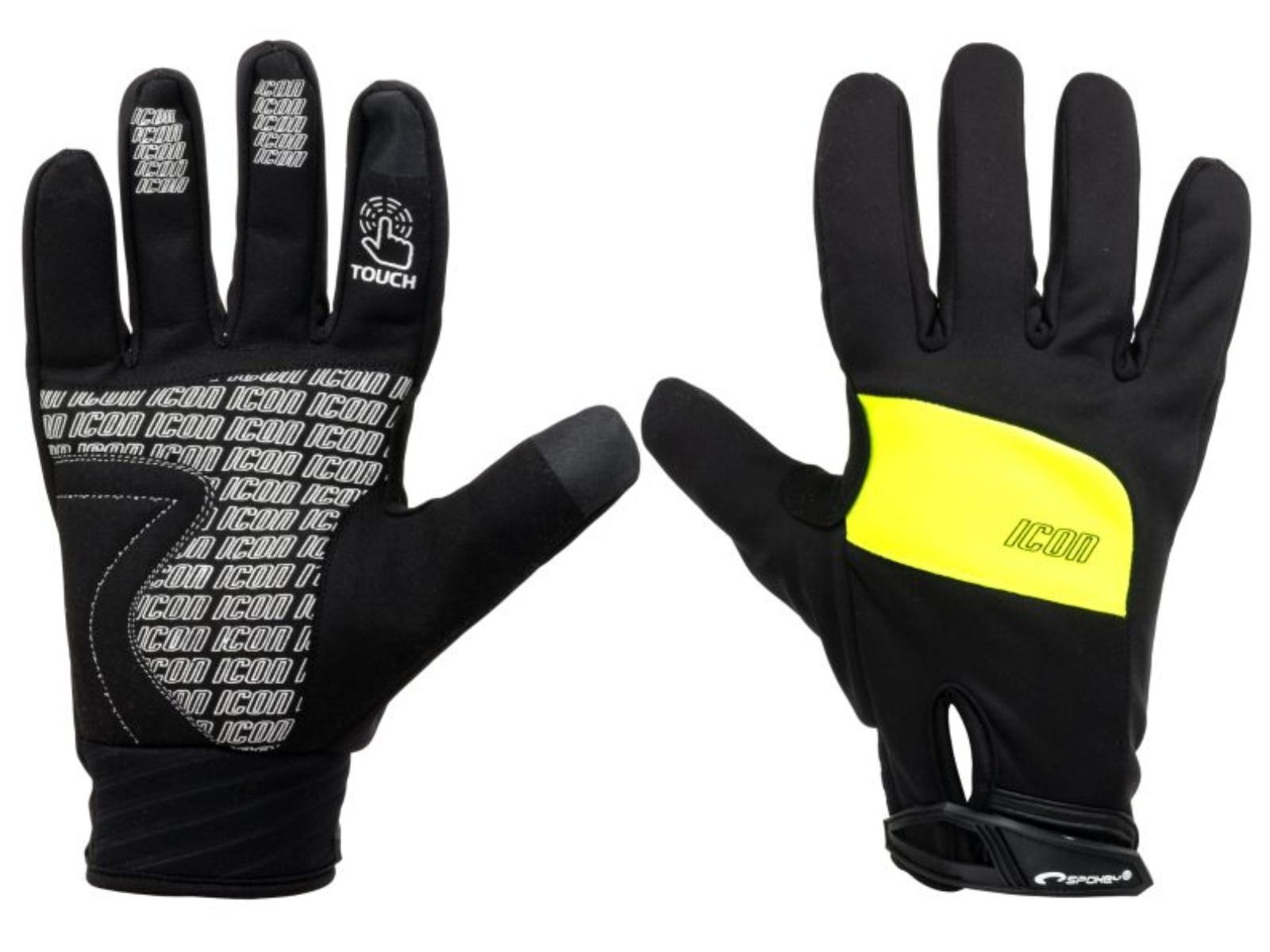 Cyklistické rukavice SPOKEY Icon čierno-žlté