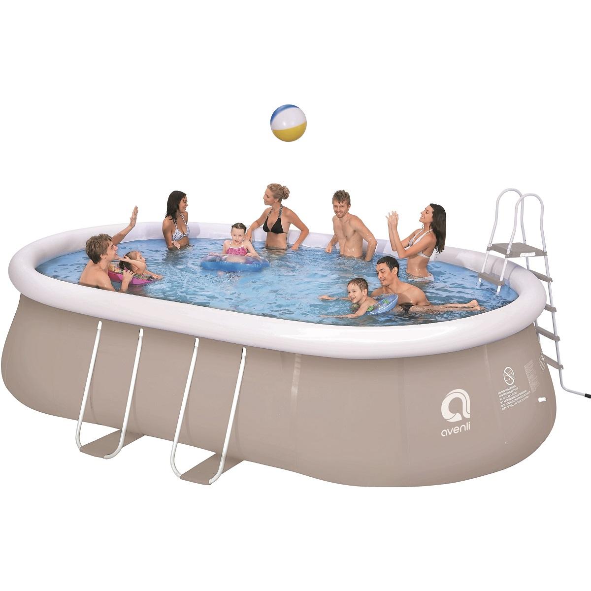 Bazén ovál Chinook Grey 540 x 304 cm set s pieskovou filtráciou