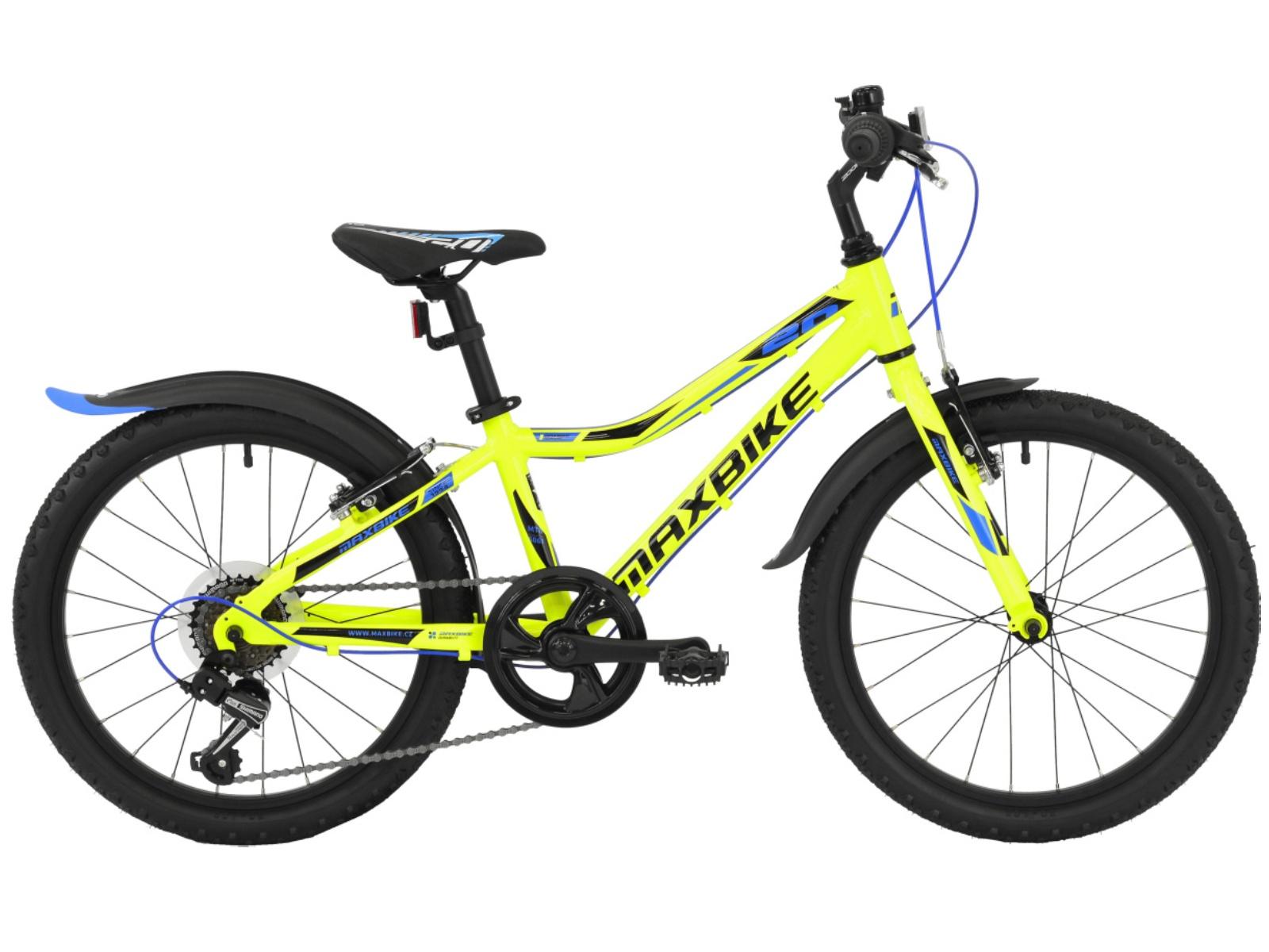 "Detský bicykel MAXBIKE Junior 20 ""- reflexne žltý"