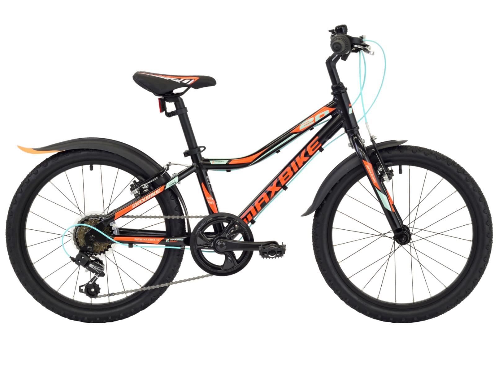 "Detský bicykel MAXBIKE Junior 20 ""- matne čierny"
