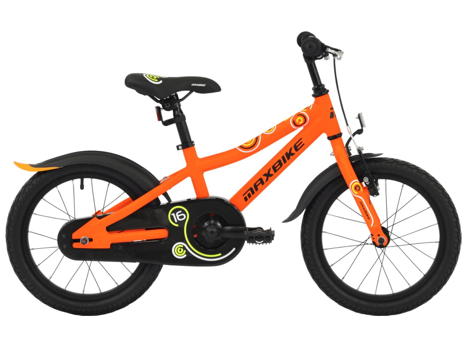 """Detský bicykel MAXBIKE 16 """"2019 - oranžový"""