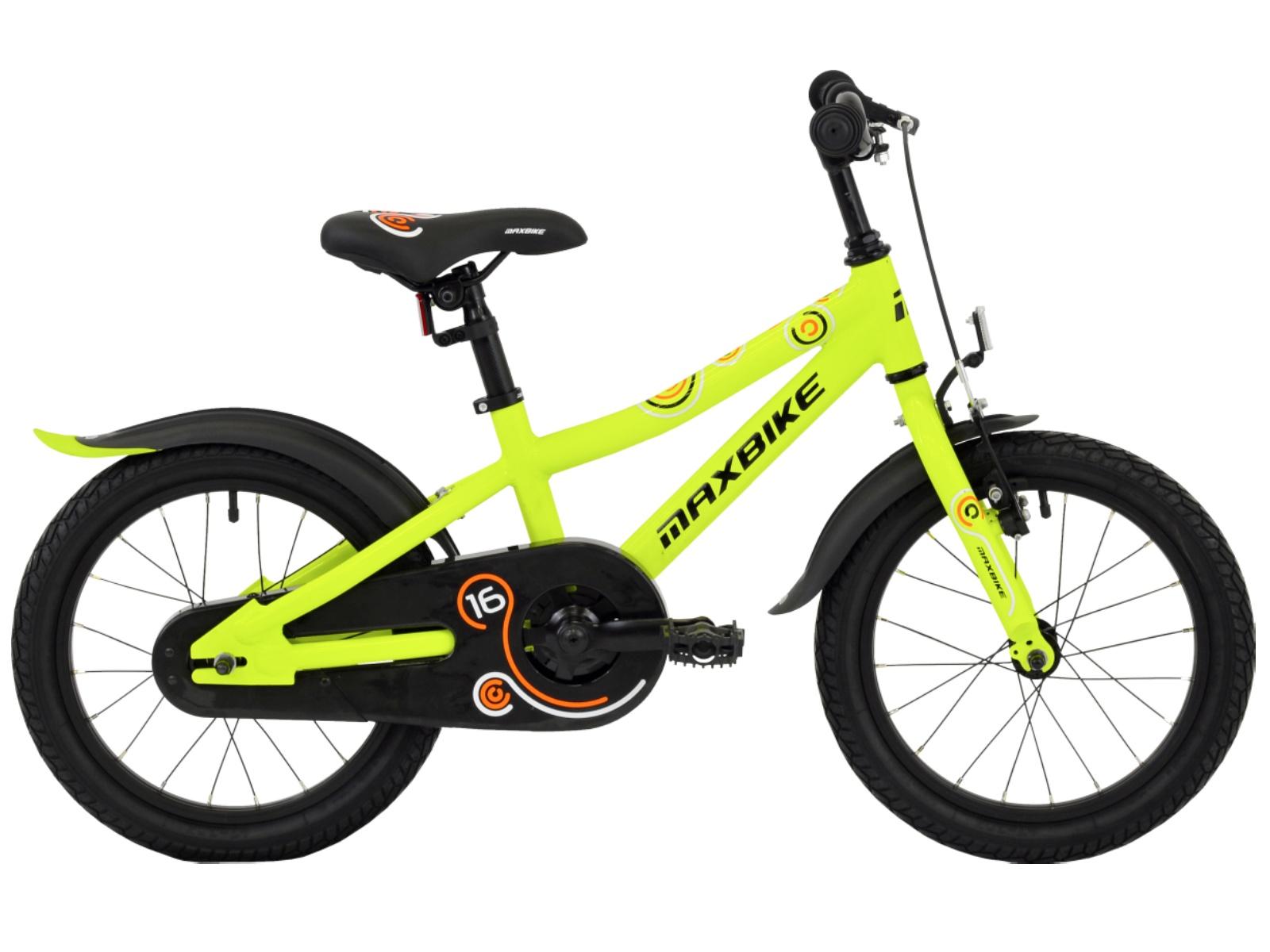 "Detský bicykel MAXBIKE 16 ""2019 - žltý"