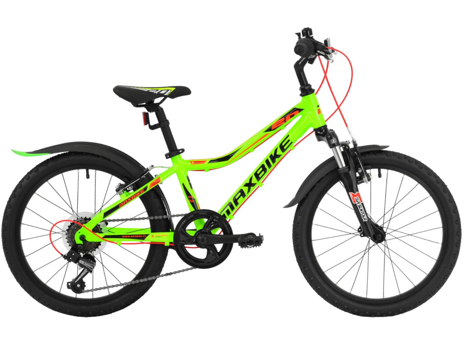 "Detský bicykel MAXBIKE Junior 20 ""SF - zelený"