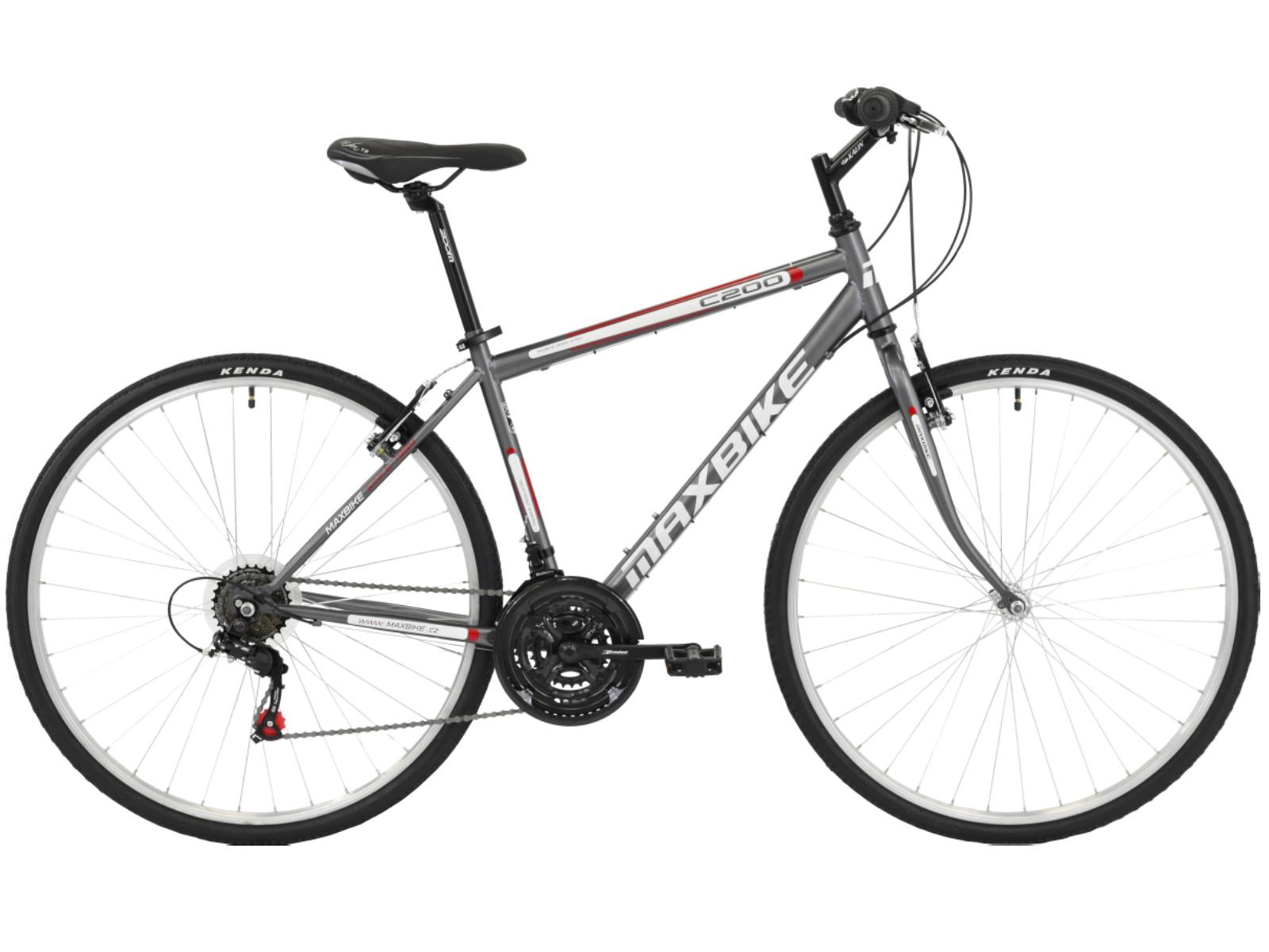 "Krosový bicykel MAXBIKE Basic sivý - veľ. rámu 18"""