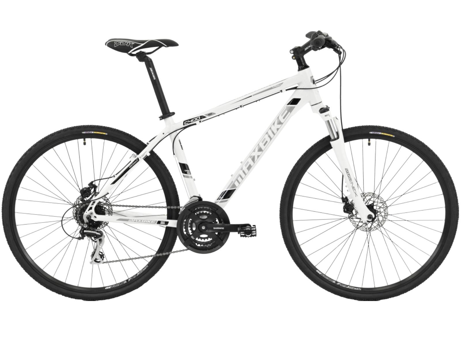 """Krosový bicykel MAXBIKE Aven biele - veľ. rámu 18"""""""