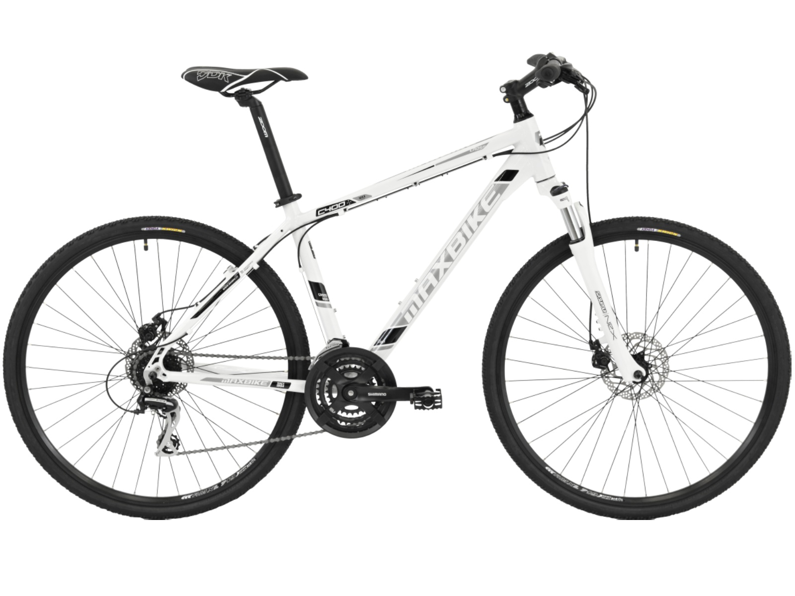 Krosový bicykel MAXBIKE Aven biele - veľ. rámu 20''