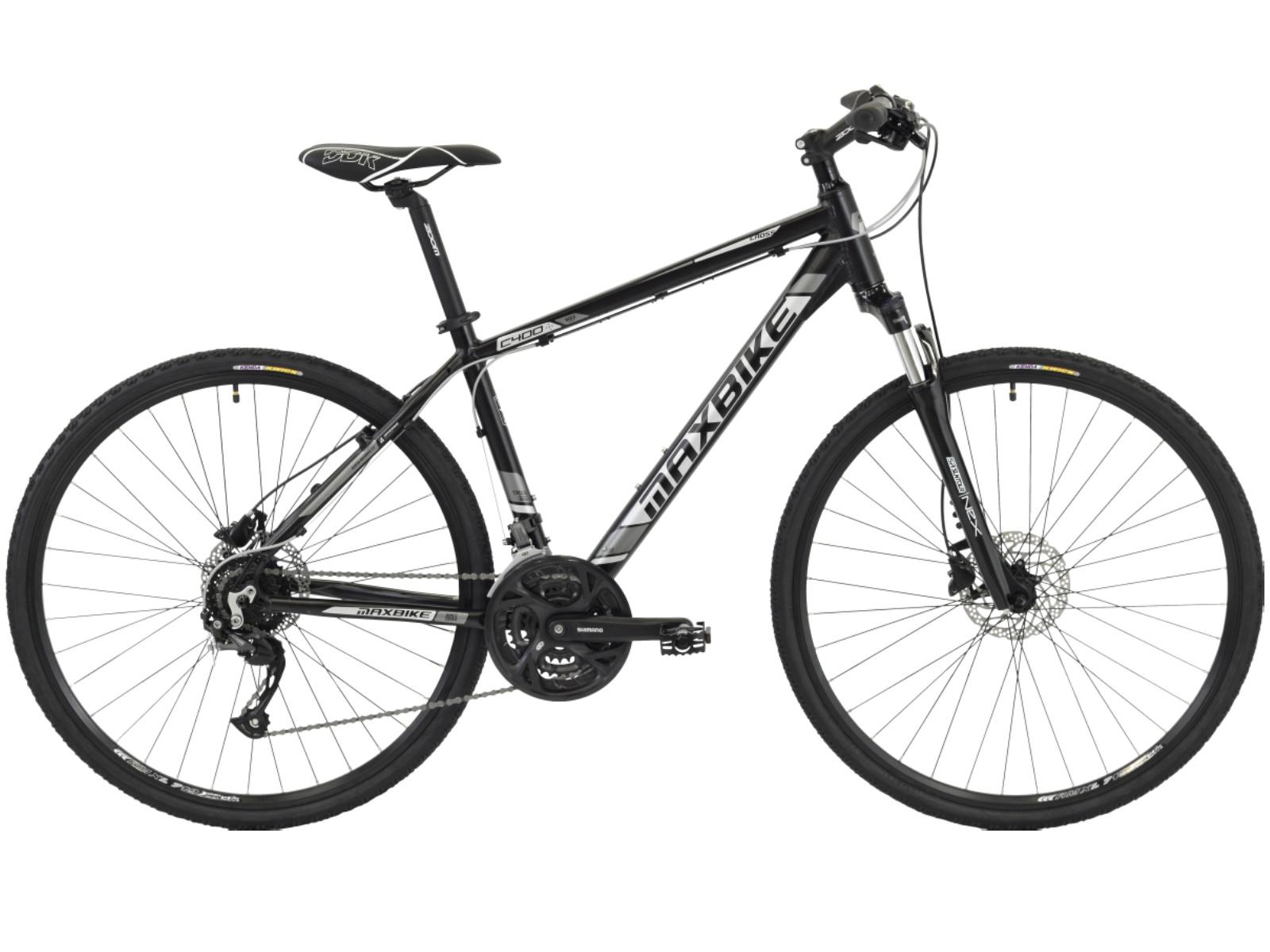 "Krosový bicykel MAXBIKE Fraser biele - veľ. rámu 18"""