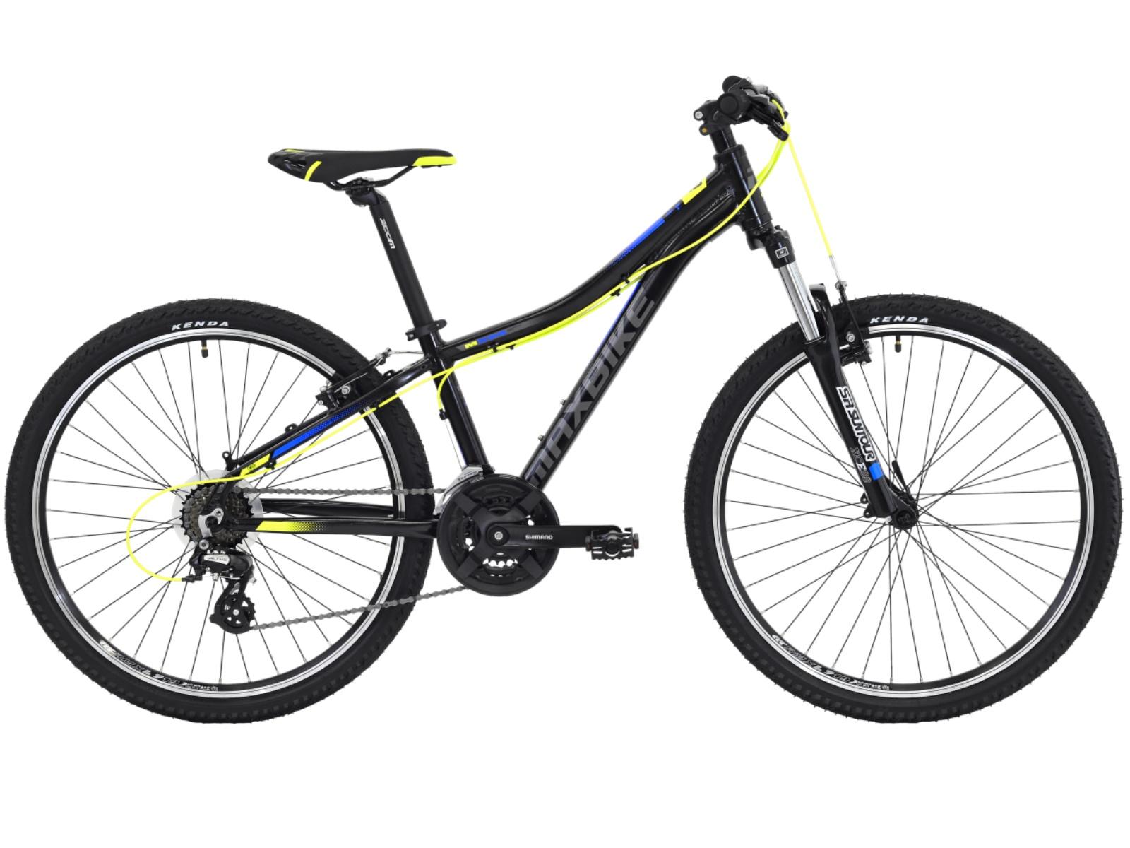 """Detský bicykel MAXBIKE Loma 26"""" čierno-žltý - veľ. rámu 13"""""""