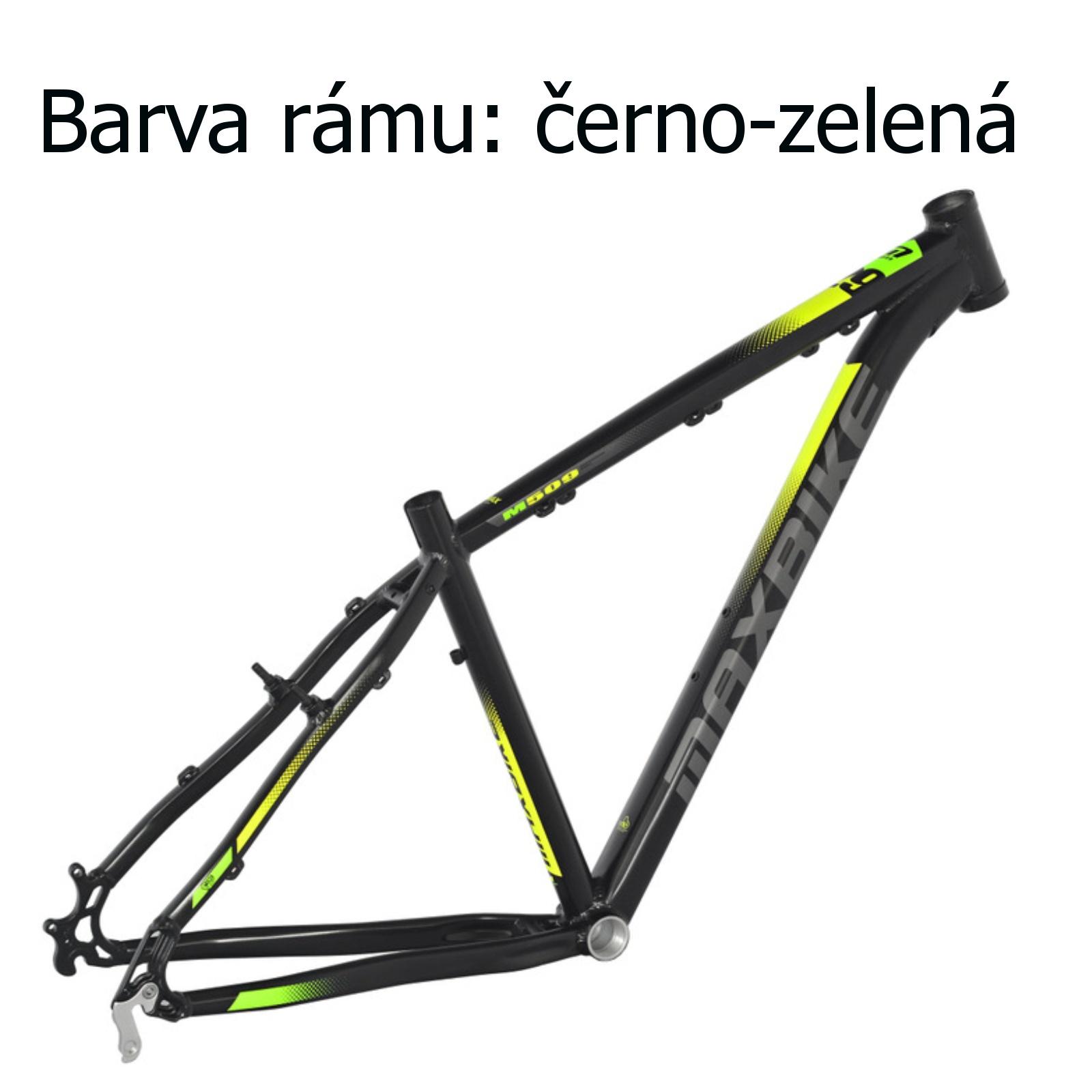 """Horský bicykel MAXBIKE Loma 26"""" čierno-zelený - veľkosť rámu 17"""""""