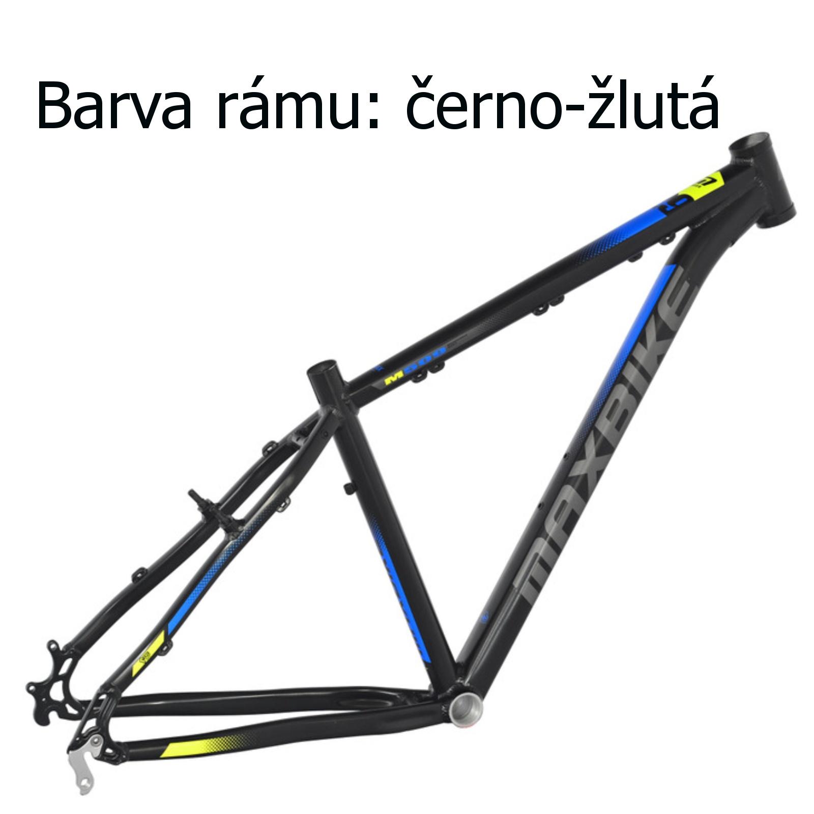"""Horský bicykel MAXBIKE Loma 26"""" čierno-žltý - veľkosť rámu 17"""""""