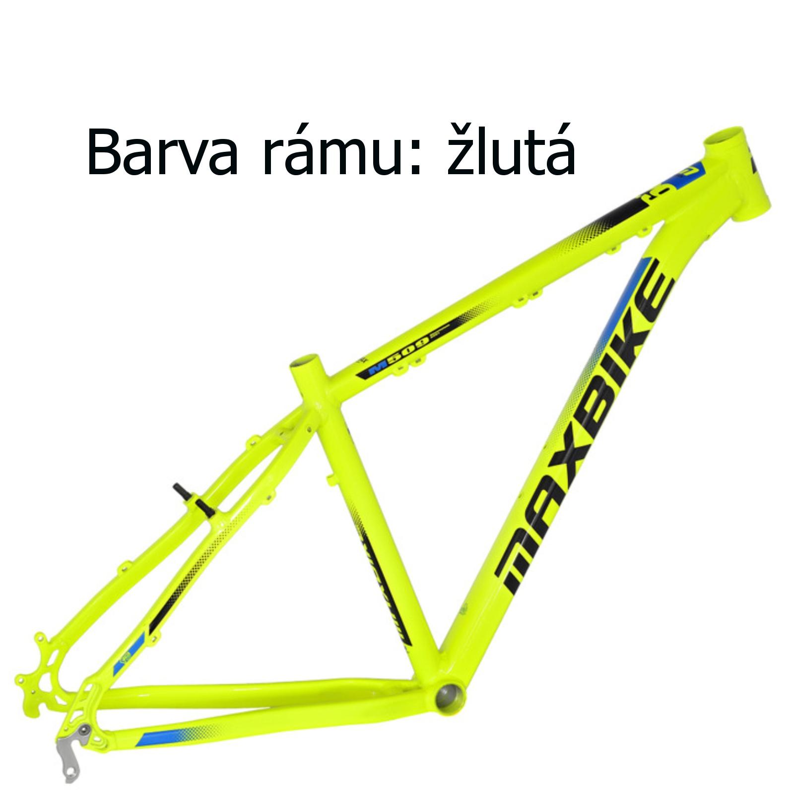 """Horský bicykel MAXBIKE Loma 26"""" žltý - veľkosť rámu 17"""""""