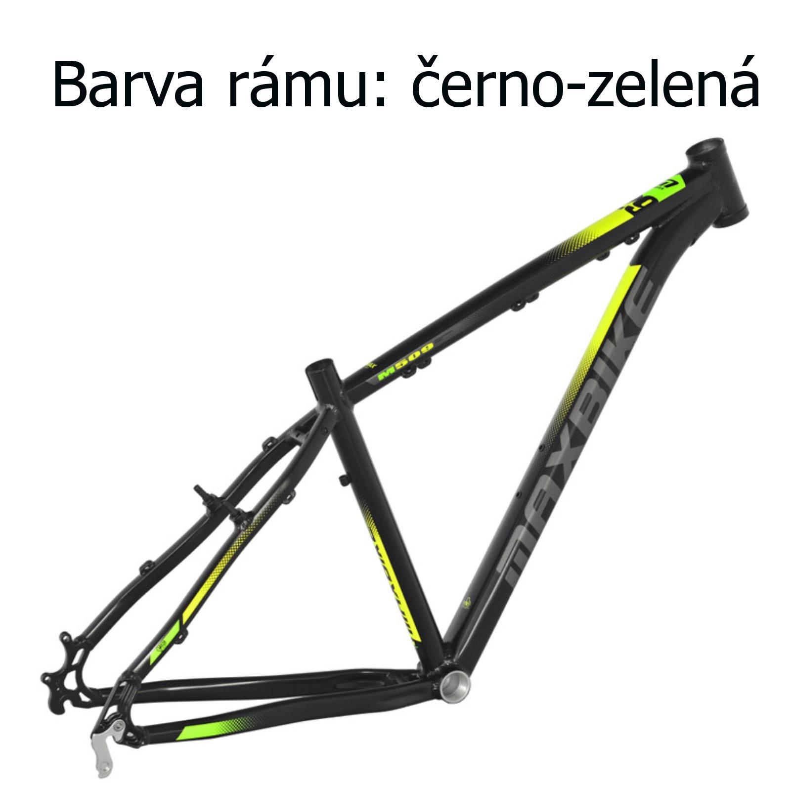 """Horský bicykel MAXBIKE Nimba 26"""" čierno-zelený - veľ. rámu 17"""""""
