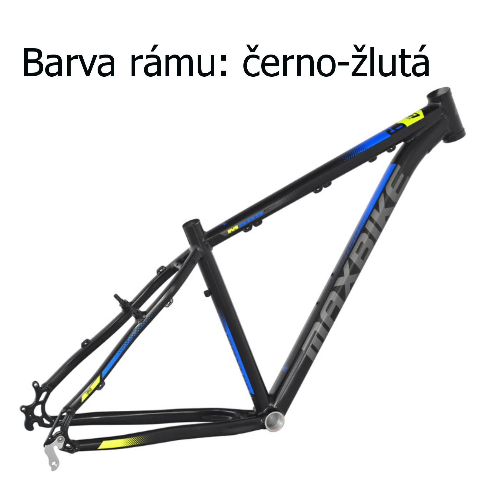 """Horský bicykel MAXBIKE Nimba 26"""" čierno-žltý - veľ. rámu 17"""""""