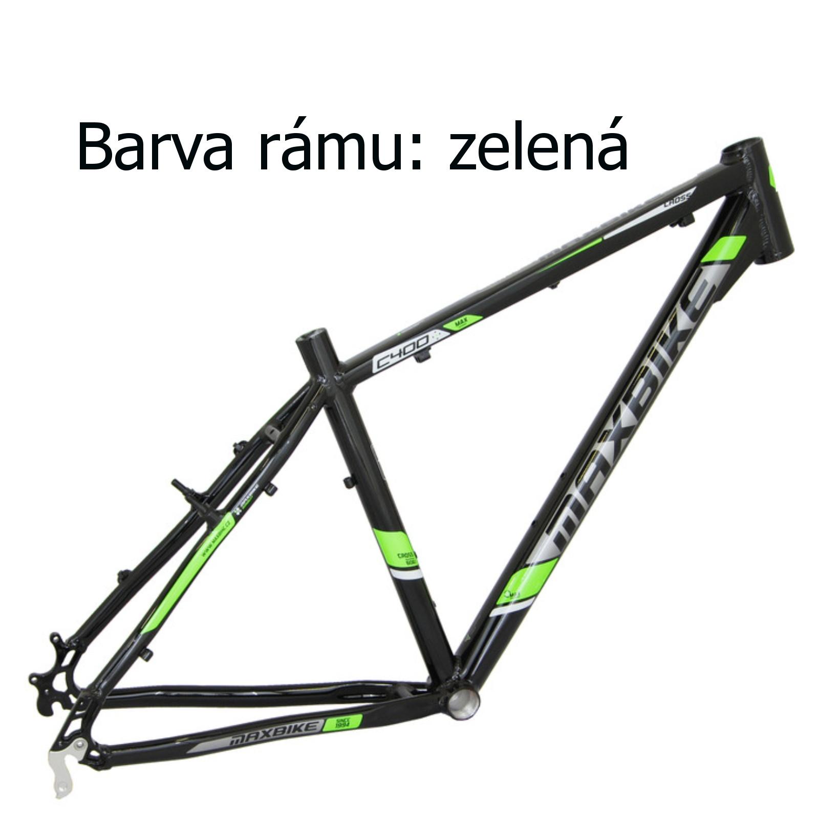 "Krosový bicykel MAXBIKE Cavalla zelený - veľ. rámu 16"""