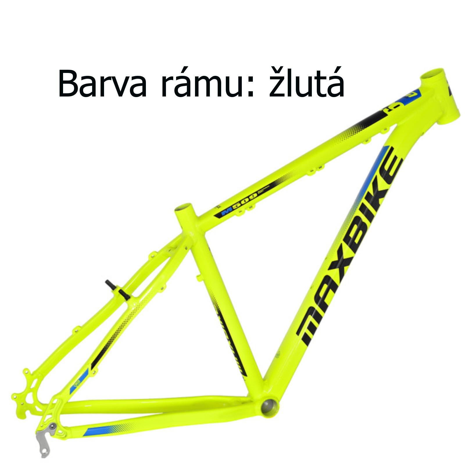 "Horský bicykel MAXBIKE Nimba 26"" žltý - veľ. rámu 17"""
