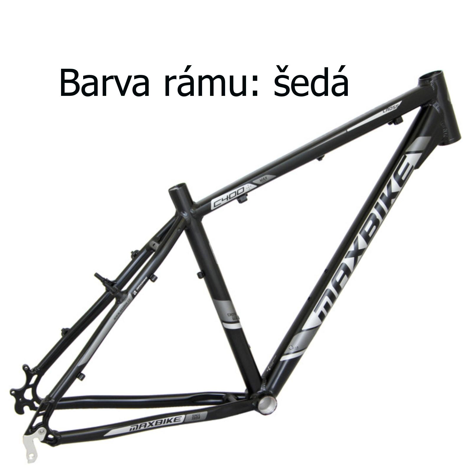"""Krosový bicykel MAXBIKE Cavalla sivý - veľ. rámu 16"""""""