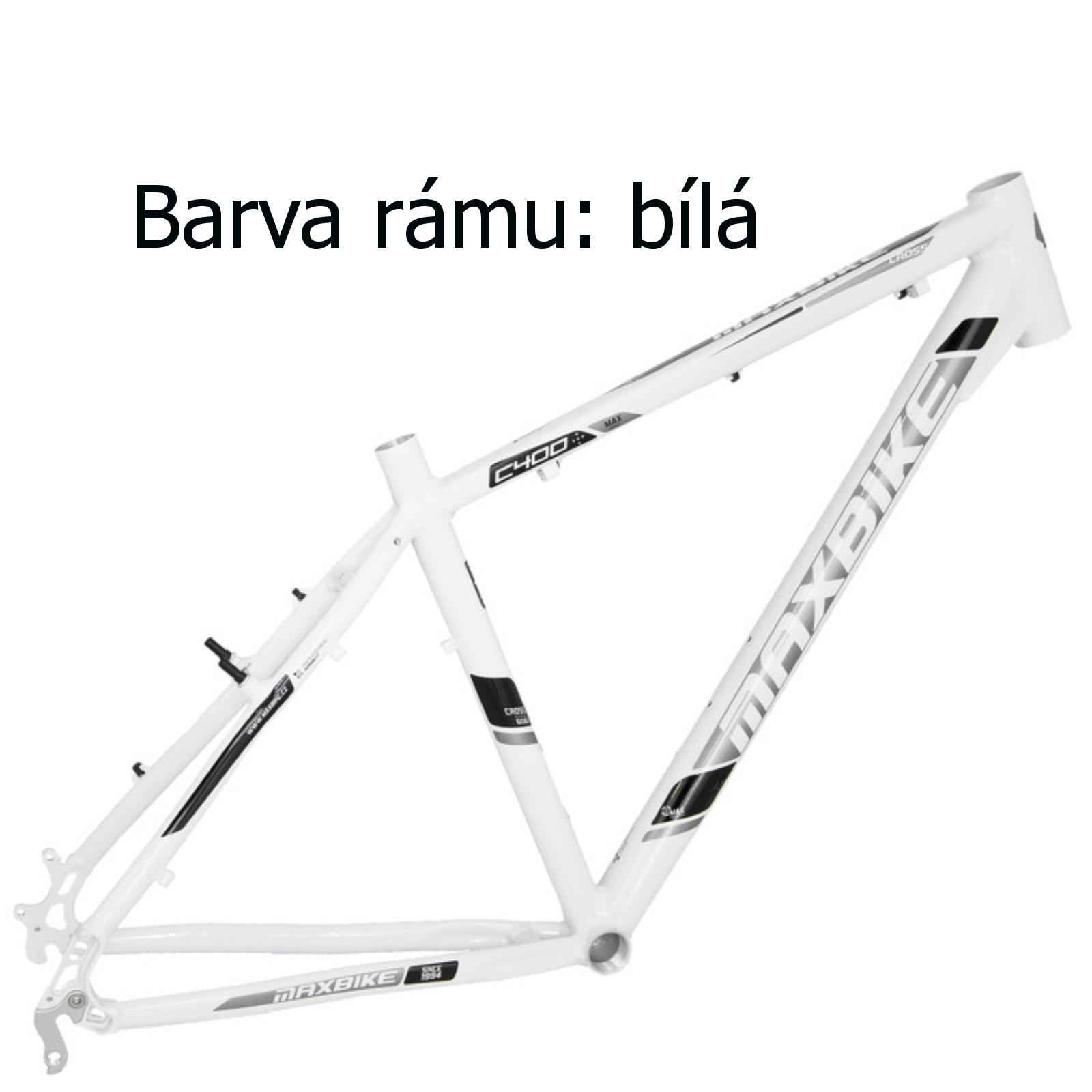 """Krosový bicykel MAXBIKE Cavalla biely - veľ. rámu 18"""""""
