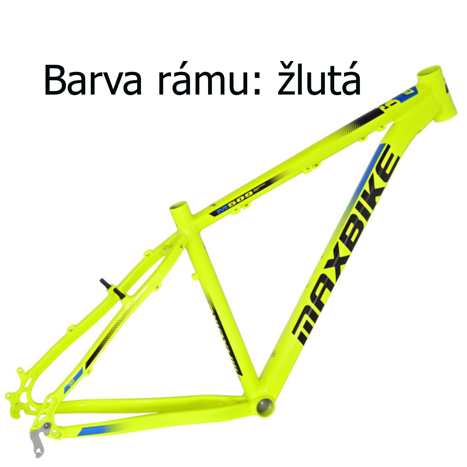"Horský bicykel MAXBIKE Nimba 27.5 žlté - veľ. rámu 15 """