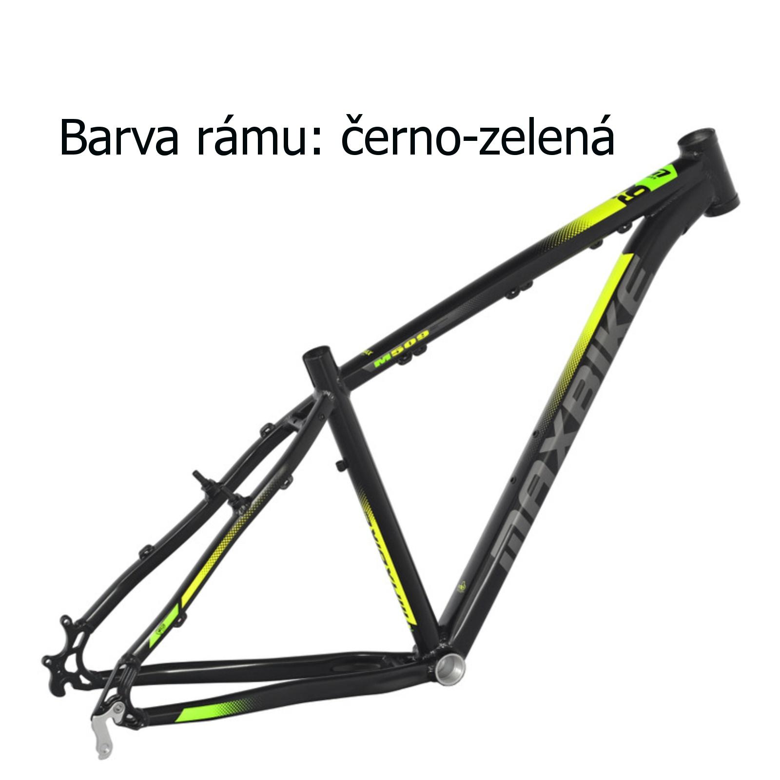 """Horský bicykel MAXBIKE Apo 26 čierno-zelený - veľ. rámu 17"""""""
