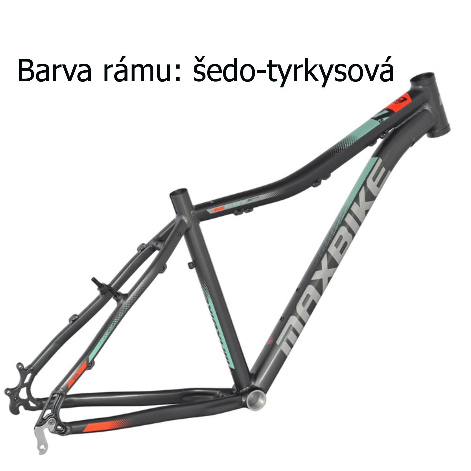 """Horský bicykel MAXBIKE Apo 26 dámsky šedo-tyrkysový - veľ. rámu 15 """""""