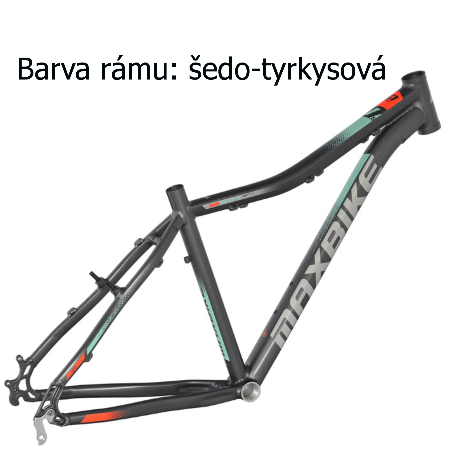 """Horský bicykel MAXBIKE Apo 26 dámsky šedo-tyrkysový - veľ. rámu 17 """""""