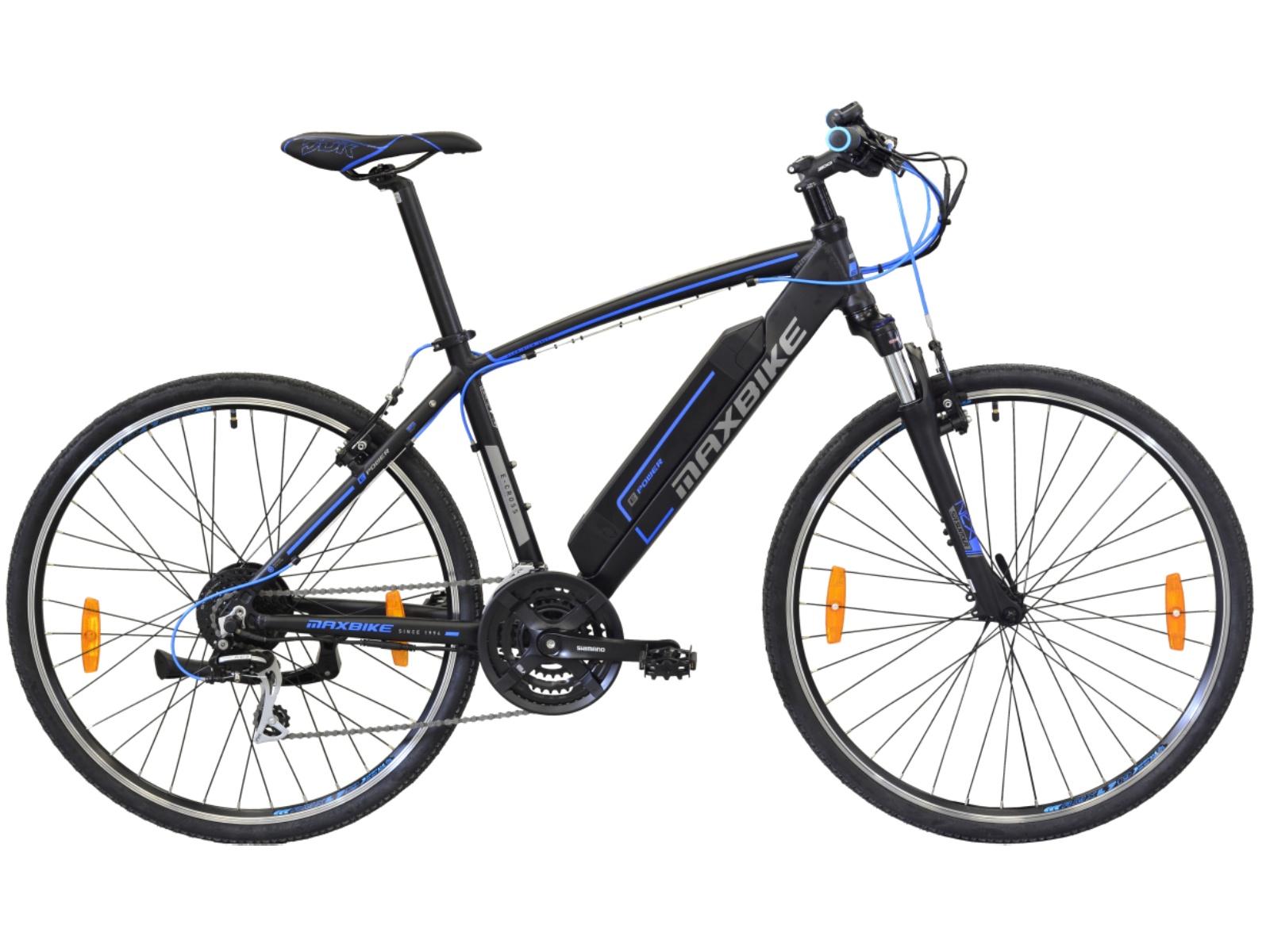 """Krosový elektrobicykel MAXBIKE E-CROSS 700C veľkosť rámu 20 """""""
