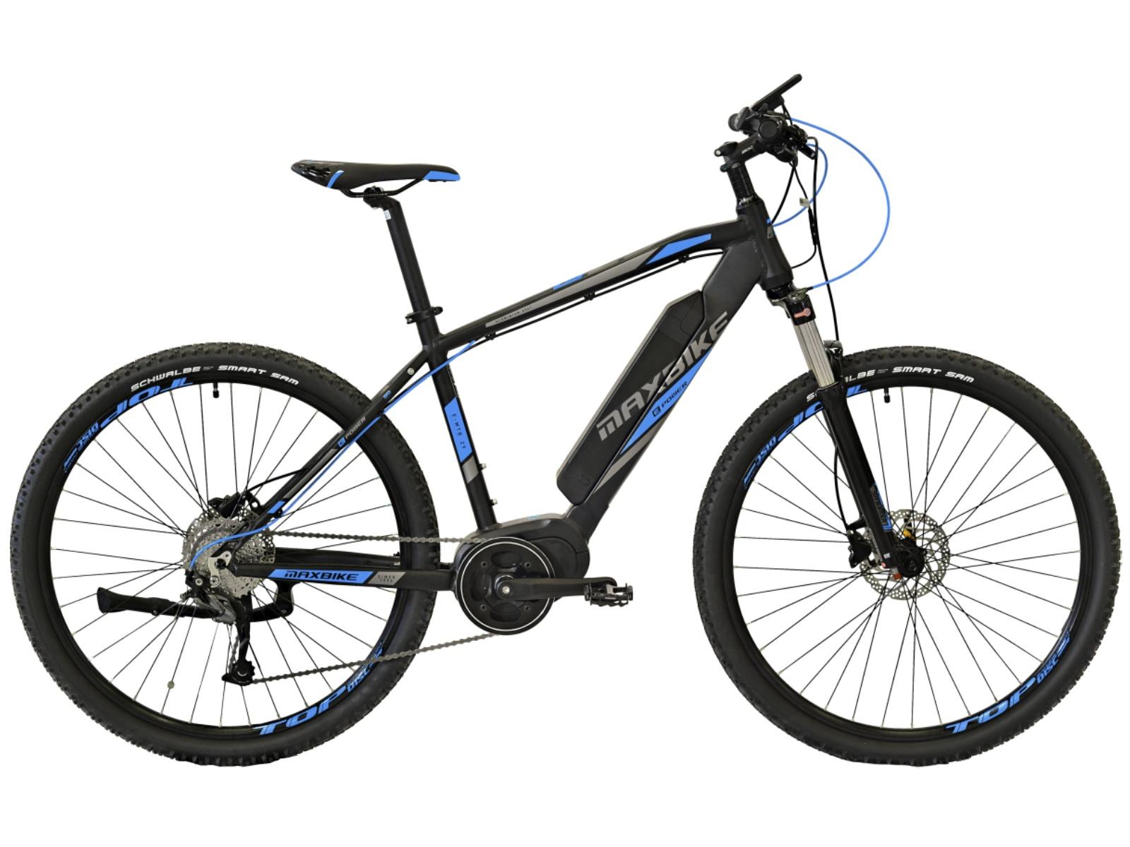 """Horský elektrobicykel MAXBIKE E-Malawi 29 čierno-modrý - veľkosť rámu 21 """""""