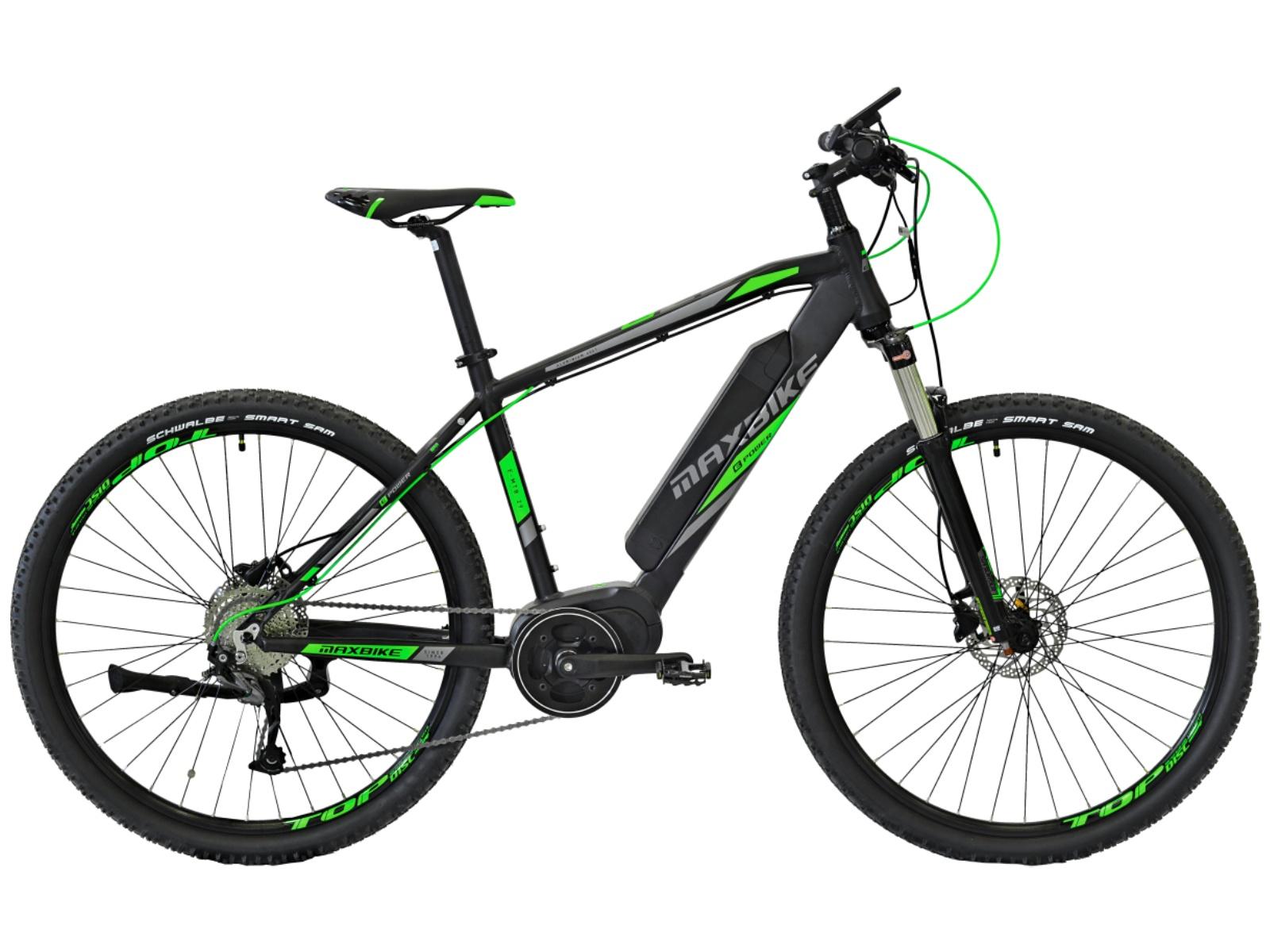 """Horský elektrobicykel MAXBIKE E-Malawi 29 čierno-zelený - veľkosť rámu 21 """""""