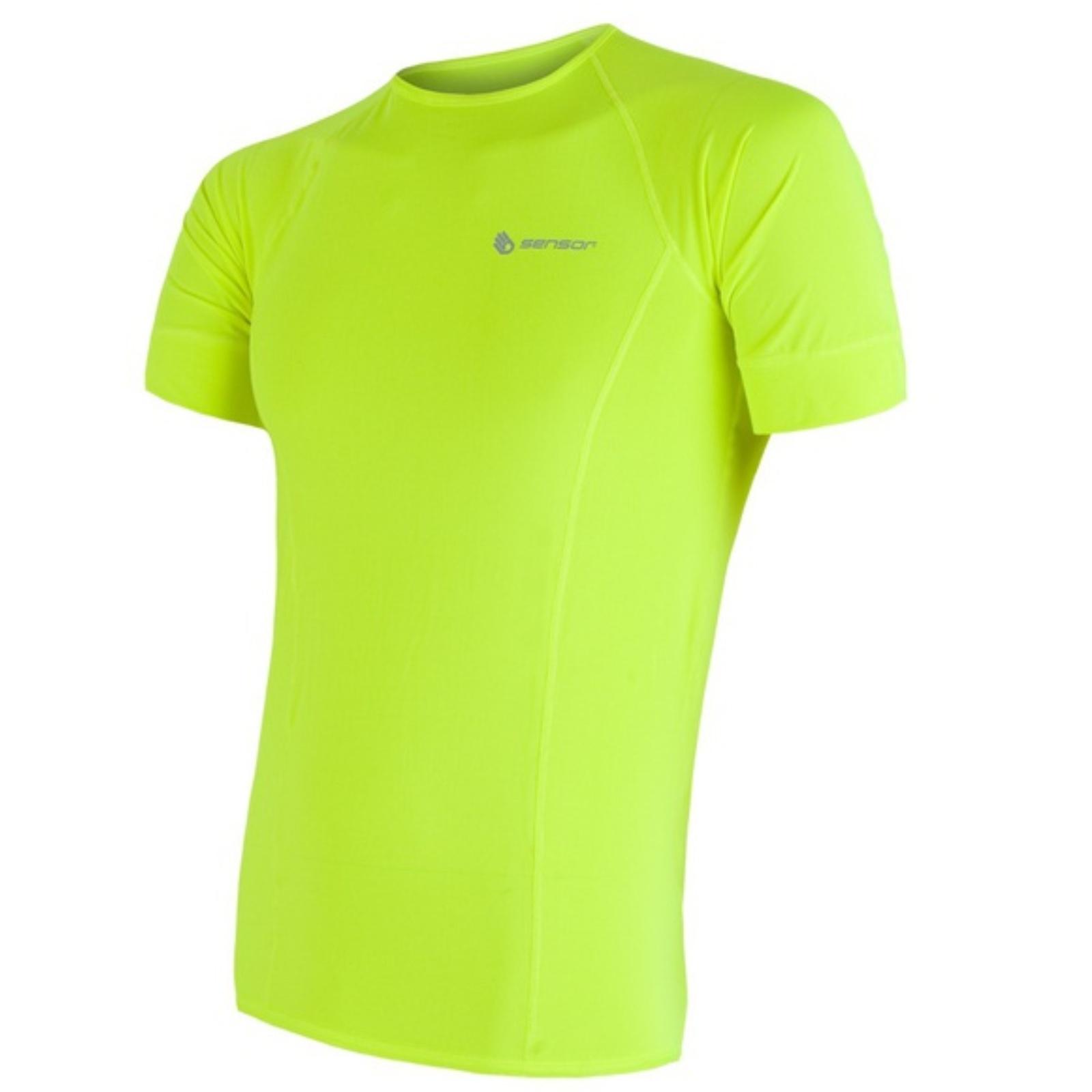 Tričko krátky rukáv SENSOR Coolmax Fresh pánske reflex žlté