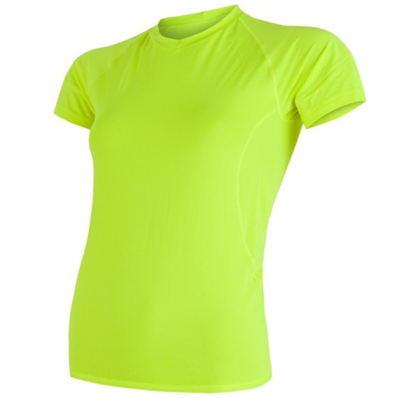 Tričko krátky rukáv SENSOR Coolmax Fresh dámske reflex žlté