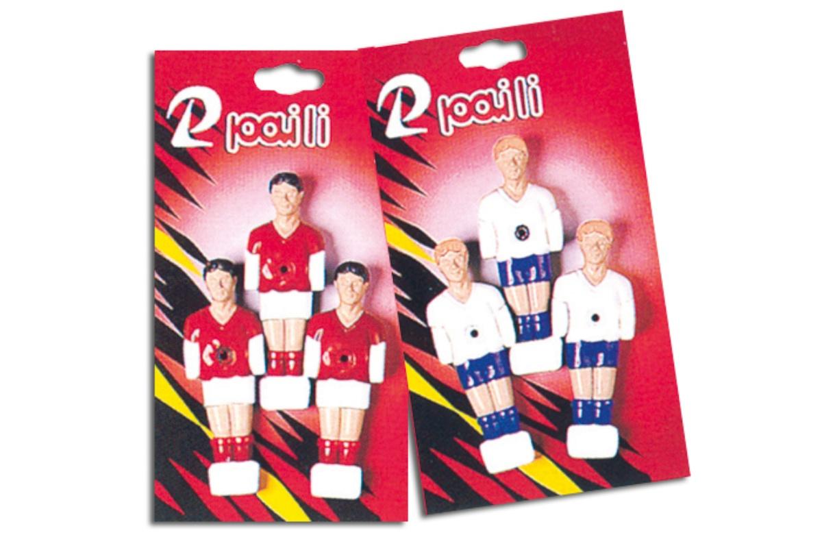 Náhradní hráči na stolný futbal - 3 kusy červené