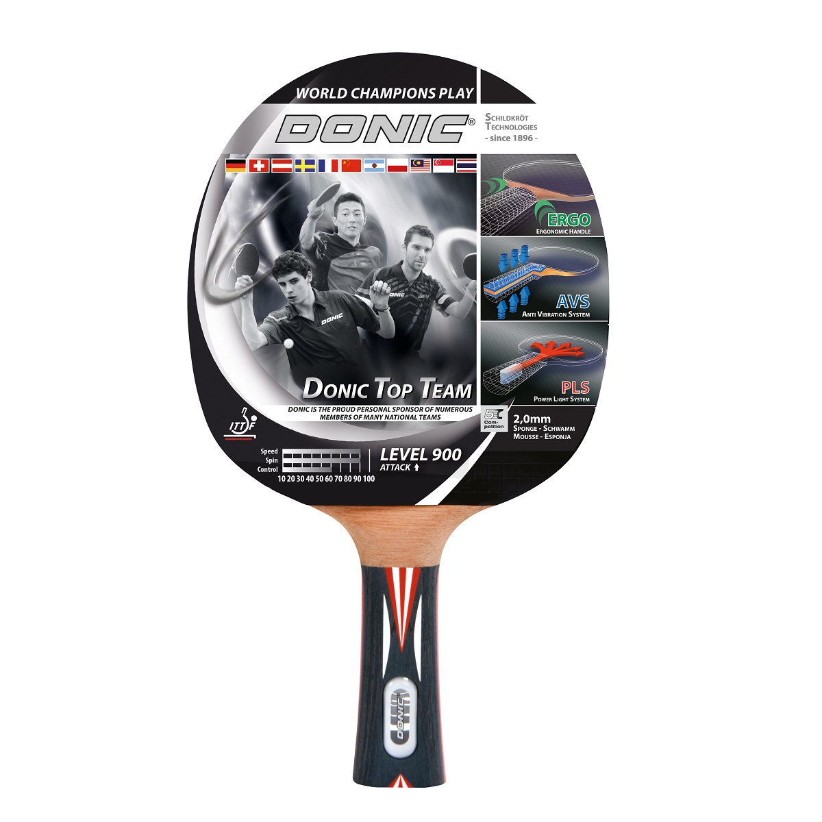 Raketa na stolný tenis DONIC Top Team 900