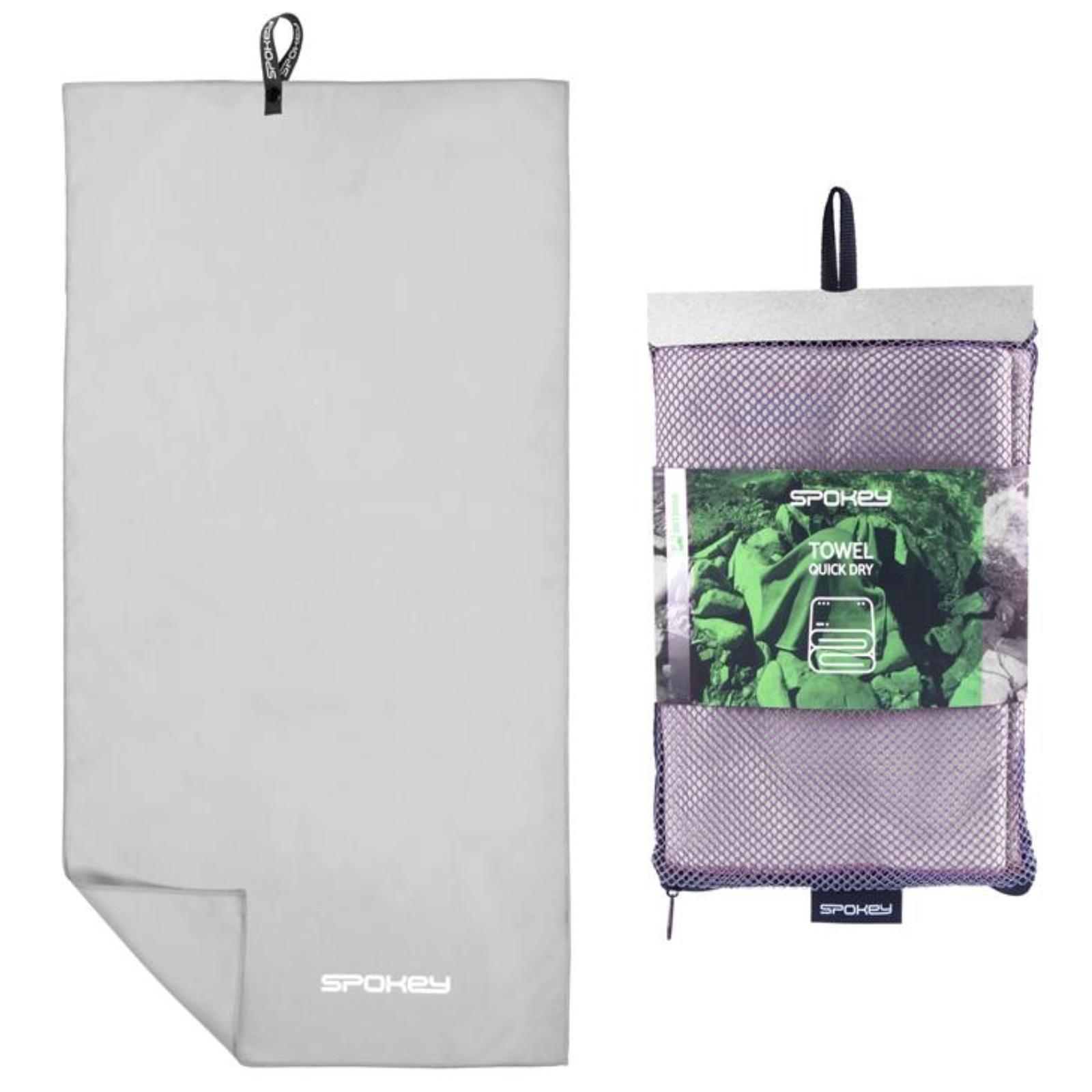 Rýchloschnúci uterák SPOKEY Sirocco L 60 x 120 cm, sivý