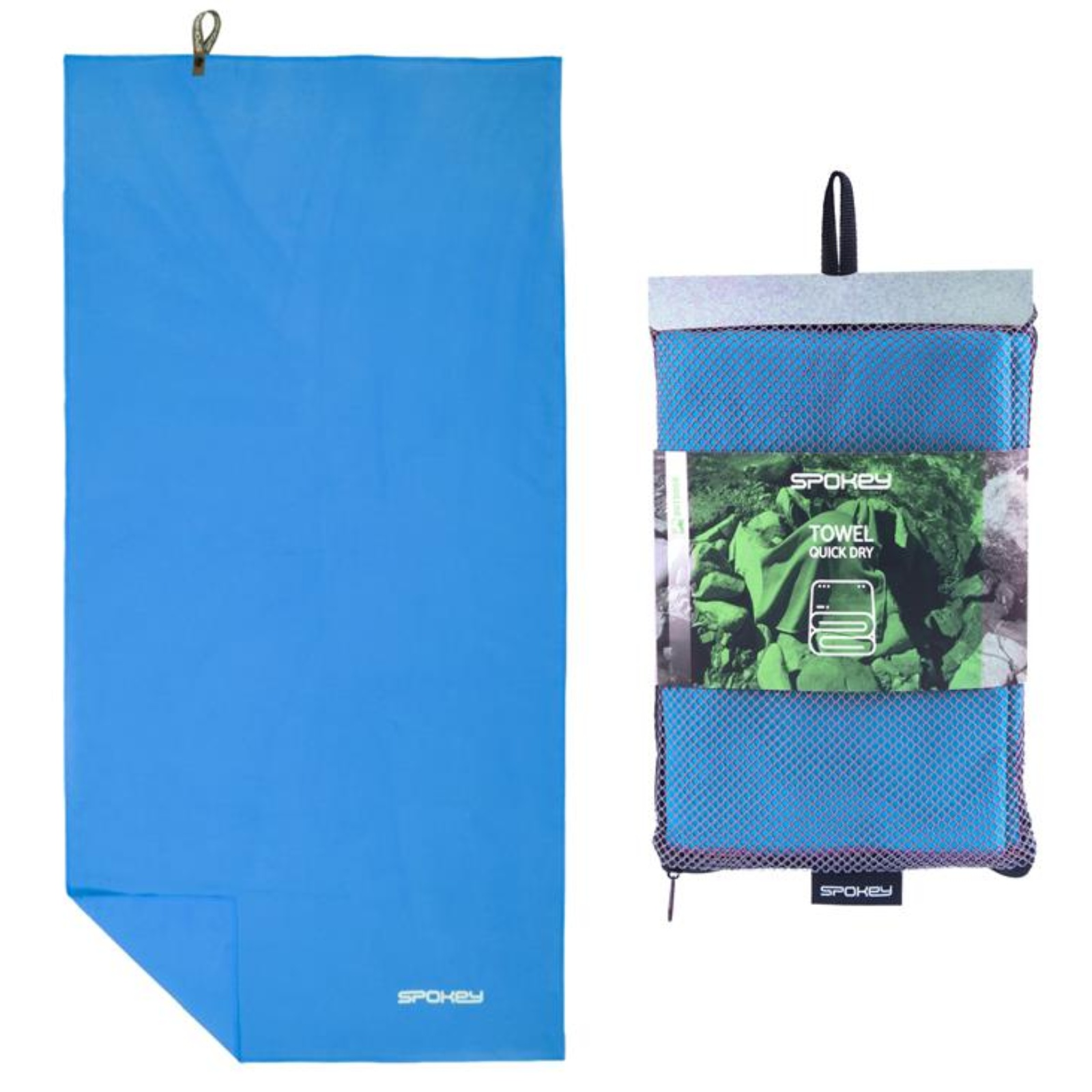 Rýchloschnúci uterák SPOKEY Sirocco L 60 x 120 cm, tyrkysový