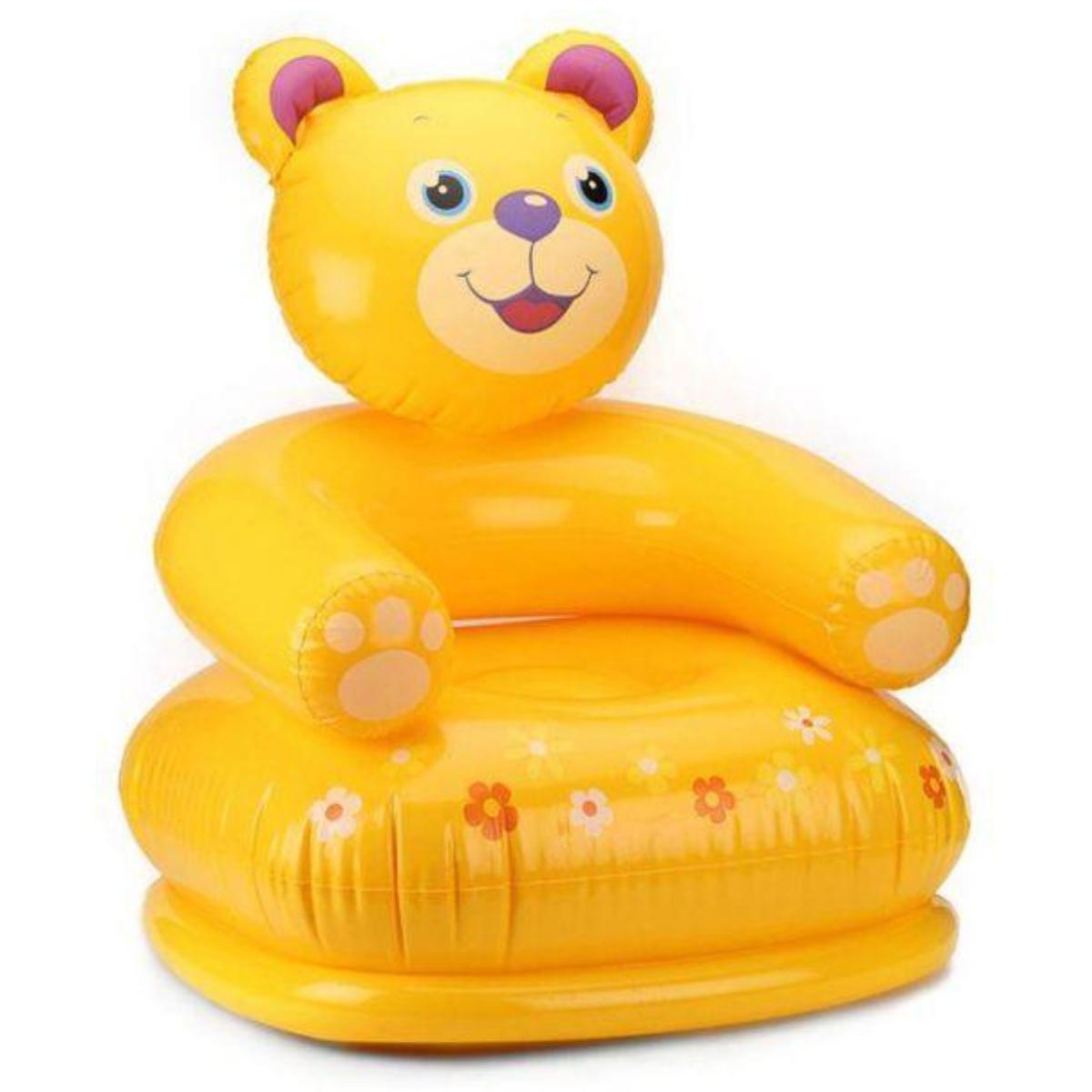 Nafukovacie detské kresielko INTEX - medvedík