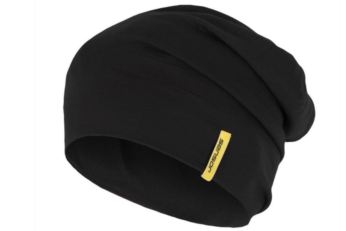 Čiapka SENSOR Merino wool čierna - veľ. L