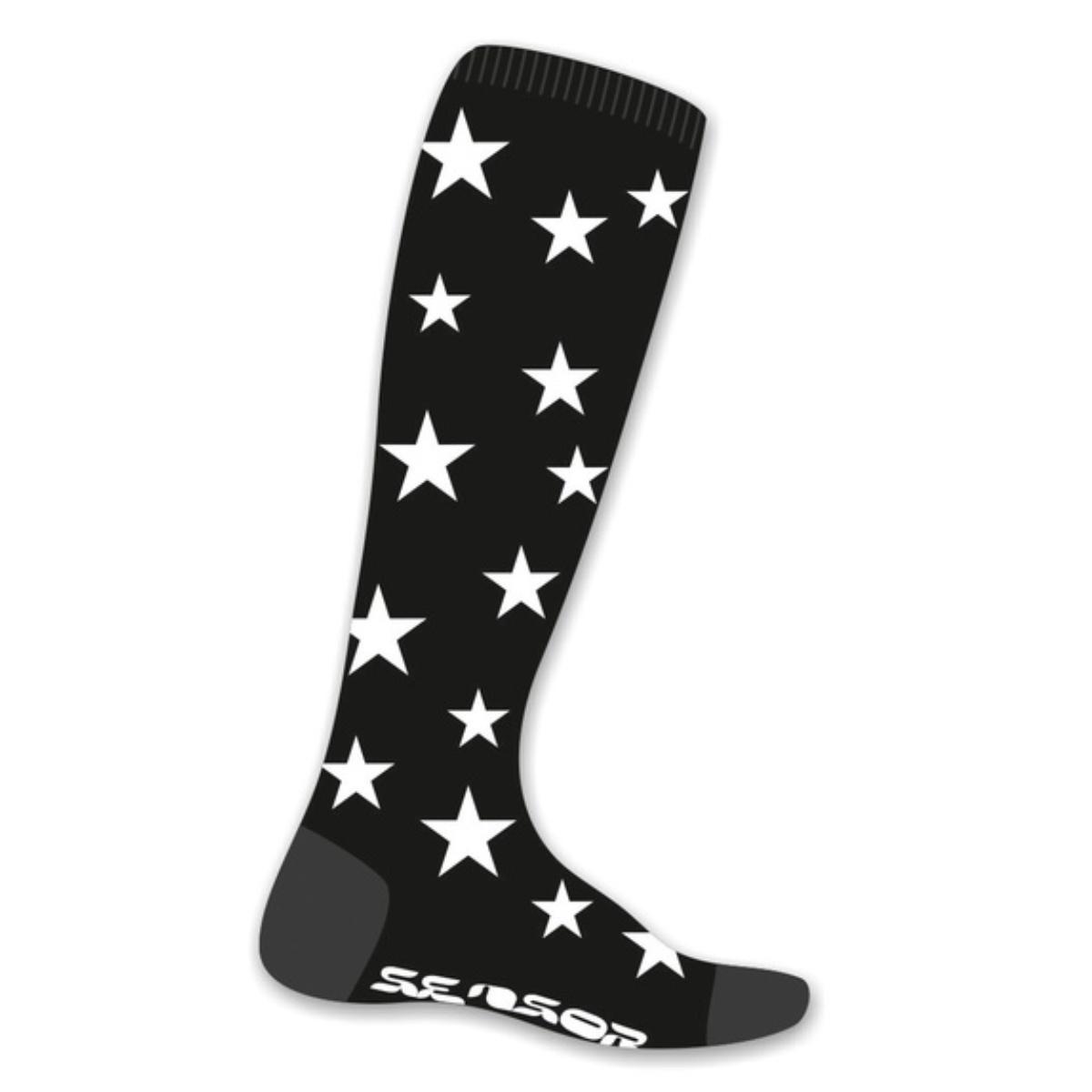 Ponožky SENSOR ThermoSnow Stars čierno-biele veľ. 6-8