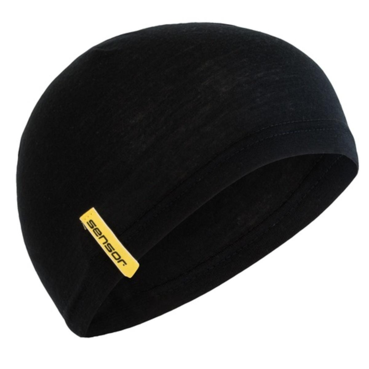 Sensor čepice Merino Under černá
